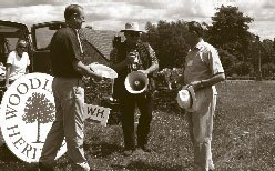 Lewis presents Major Tom Wills with his Yew Bowl