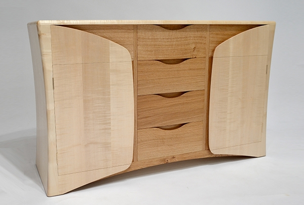 Last year's winner was Chris Wiseman for his hand-made sideboard made of British sycamore and oak and which he entitled 'Oak within'.