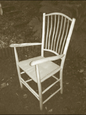 My third chair of the summer - an Ash and Cherry lath-back with hemp cord seat