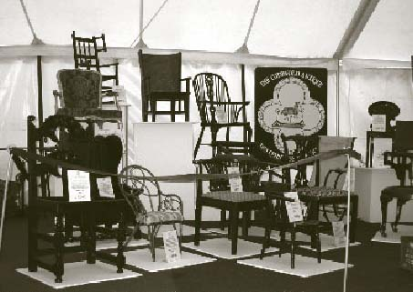 The Cotswold Antique Dealers Association put on a display of historic chairs.