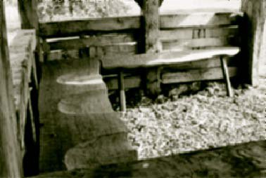 The new oak benches.