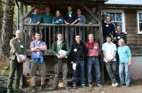 Attendees at a recent Woodland to Workshop Course