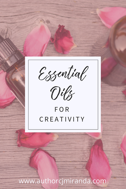 Using essential oils to boost creativity for writers and other creatives | a blog post at www.authorcjmiranda.com