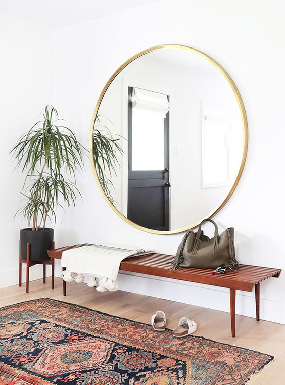 Beautiful three-foot round mirror.