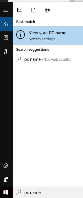 "1.       Click on ""View your PC name"""