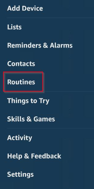 By default, Amazon has given you two sample routines. You can edit these two routines by tapping on them.