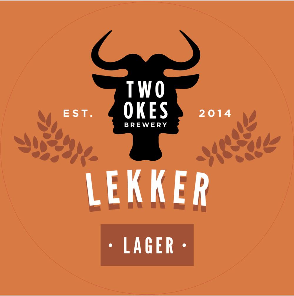 Two Okes Brewery Lekker Lager Craft Beer Logo.png