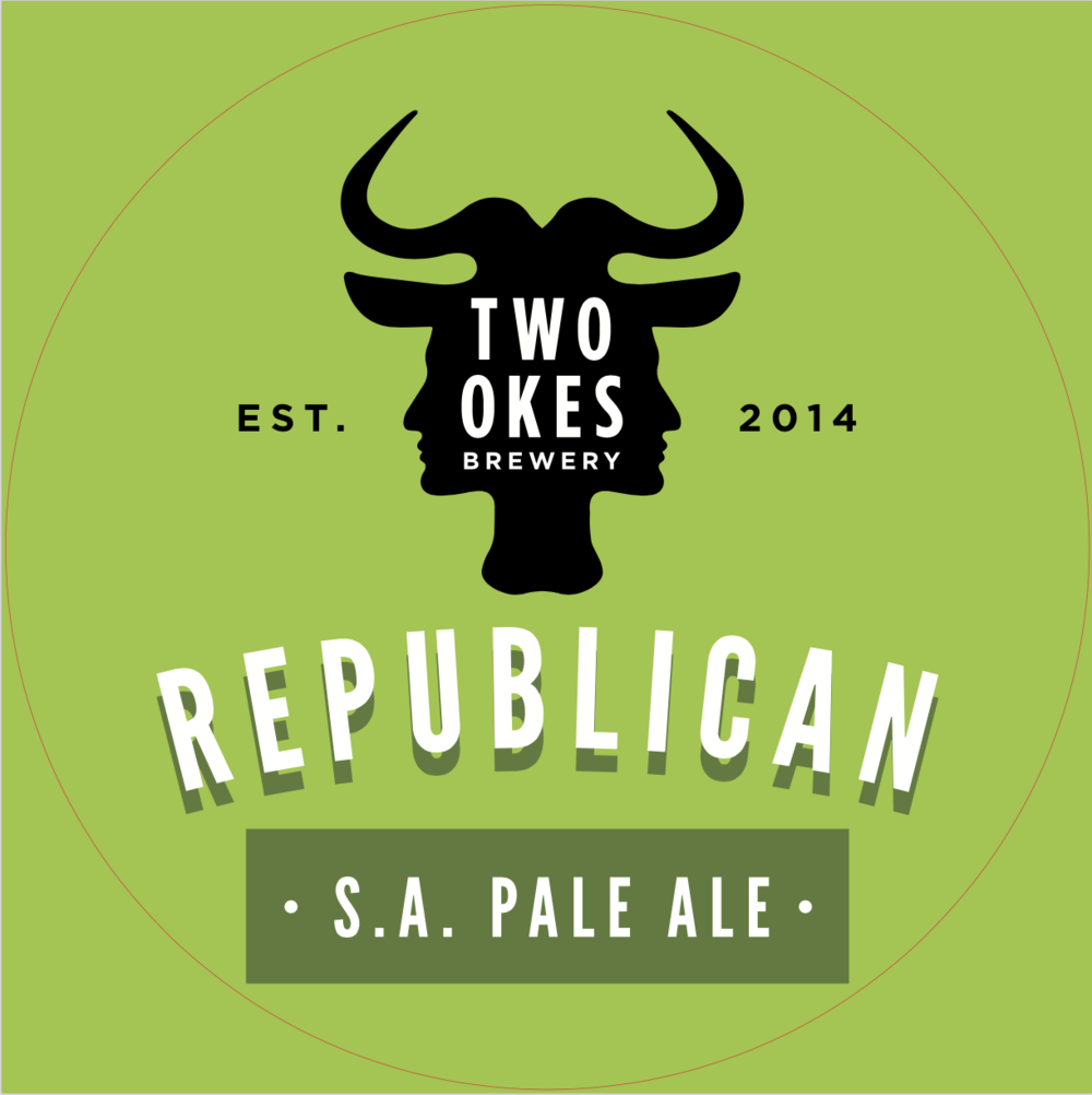Two Okes Brewery Republican South African Pale Ale Craft Beer Logo.png