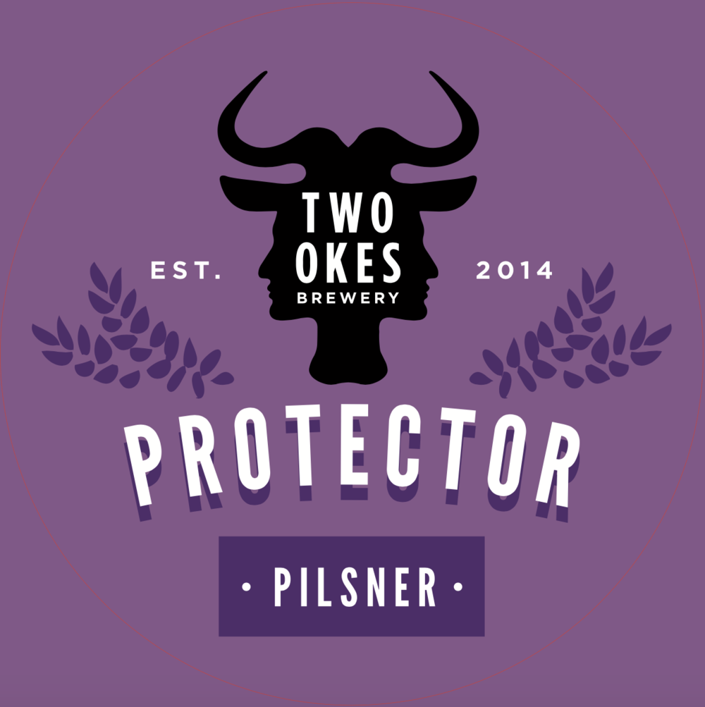 Two Okes Brewery Protector Pilsner Craft Beer Logo.png