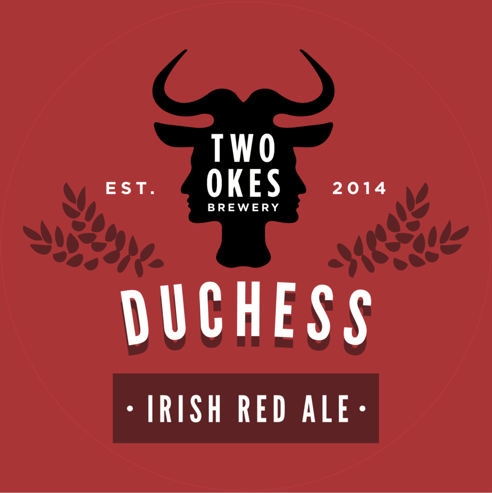 Two Okes Brewery Duchess Irish Red Ale Craft Beer Logo.png