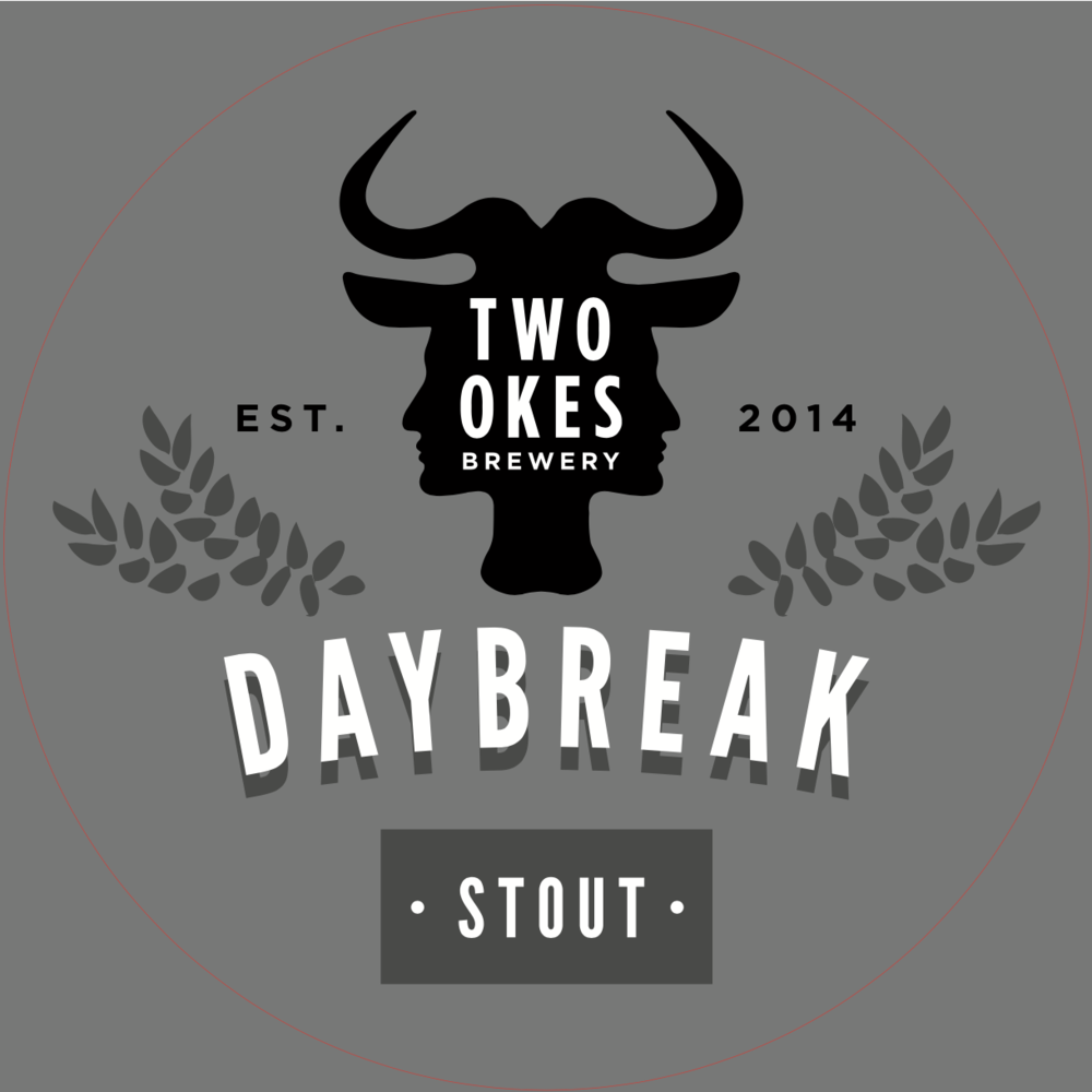 Two Okes Brewery Daybreak Stout Craft Beer Logo.png