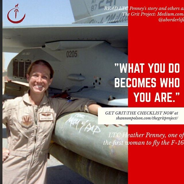 Echoing the teaching of Aristotle, F16 pilot Heather Penney has thought a lot about challenge and grit. Don't miss her story at The Grit Project! #grit #leadership #aviation #military @airforce #women #business #leadershipquotes #fighterpilot #cfpa #justdoit #ownyourgrit #shareyourrgrit #ownit #womenwhorock #challenge #inspiration #motivation