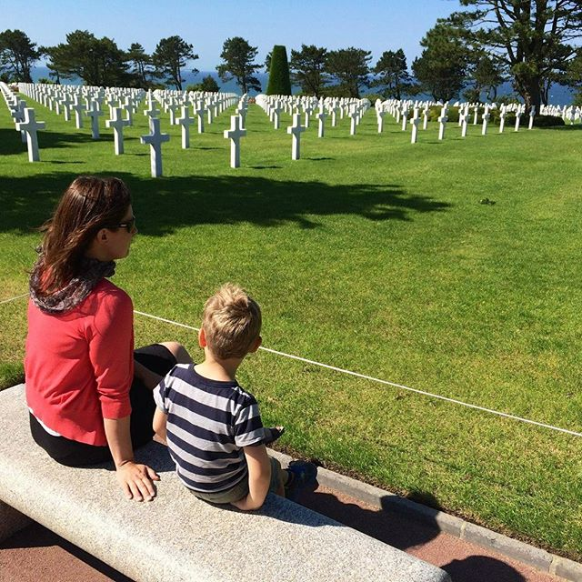 This is my eldest son and me in Normandy in 2014. It is sacred ground. There is somehow a sense of not only history but imminence there, in a place where you can find the graves of father and son laid side by side. This is a place where many are laid to rest after offering their lives, giving everything so that others could be free. It is a place of tragedy and yet of strength and of hope in honoring the lives given for liberty. To have worn the uniform of the people buried here is an incredible honor. These are things we must teach our children, to work to appreciate what others have given, to only fight when absolutely necessary, and when committed to hold nothing in reserve, and finally, to honor those who gave all when it was required of them.  #Normandy #France #memorialday #memorialdayweekend2018 #memorialday🇺🇸 #remember #neverforget #neverforgotten #memorial #sacrifice #lastfullmeasureofdevotion #ultimatesacrifice #ultimateprice #history #honor #valor #WWII #military @usarmy @usmc @usnavy @usairforce @uscg #uniform #teachthechildren #appreciation #holiday