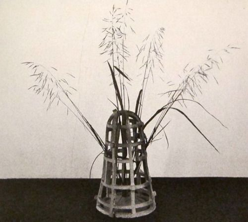 "Isamu Noguchi,   Ikebana in ""Cage Vase""  , 1952"