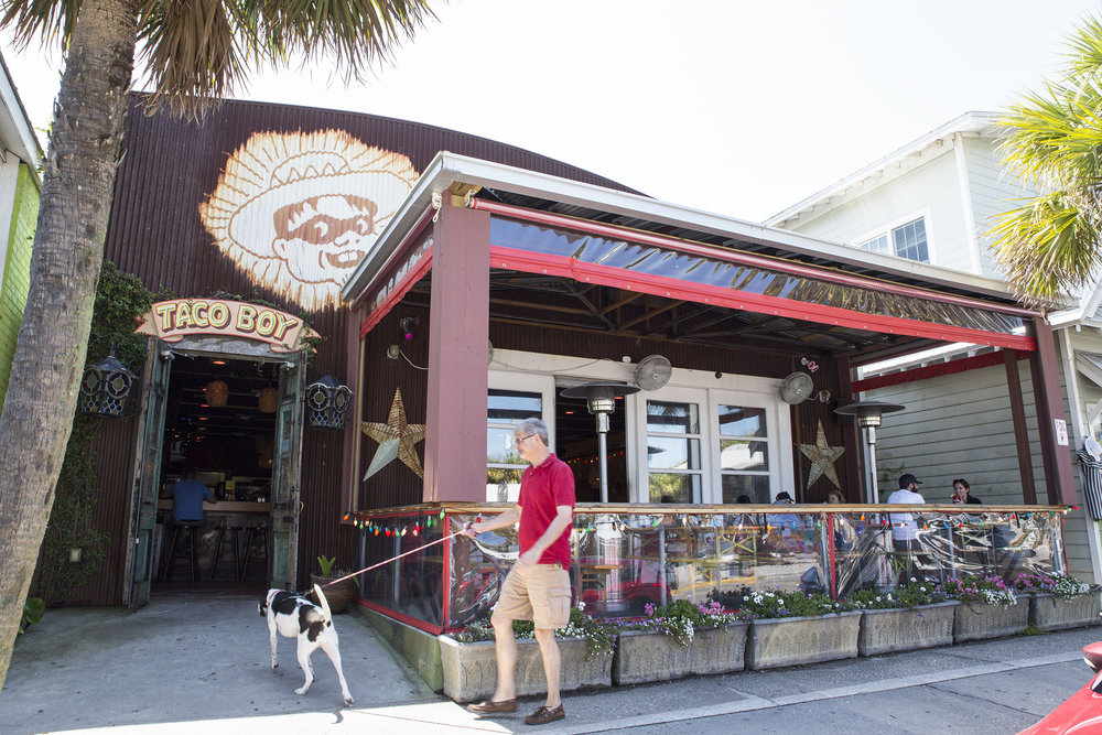 - Folly's location is located on the main shopping strip and is just a short skip and a jog to the beach. Come by for a refresh after a day in the hot sun.