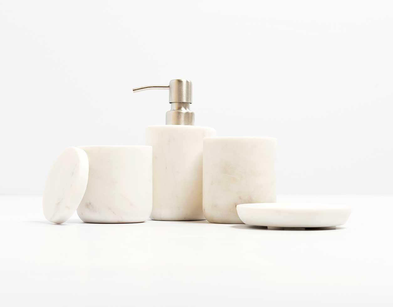 Bathroom Accessories.Marble Bathroom Accessories White Lucky Fitsch