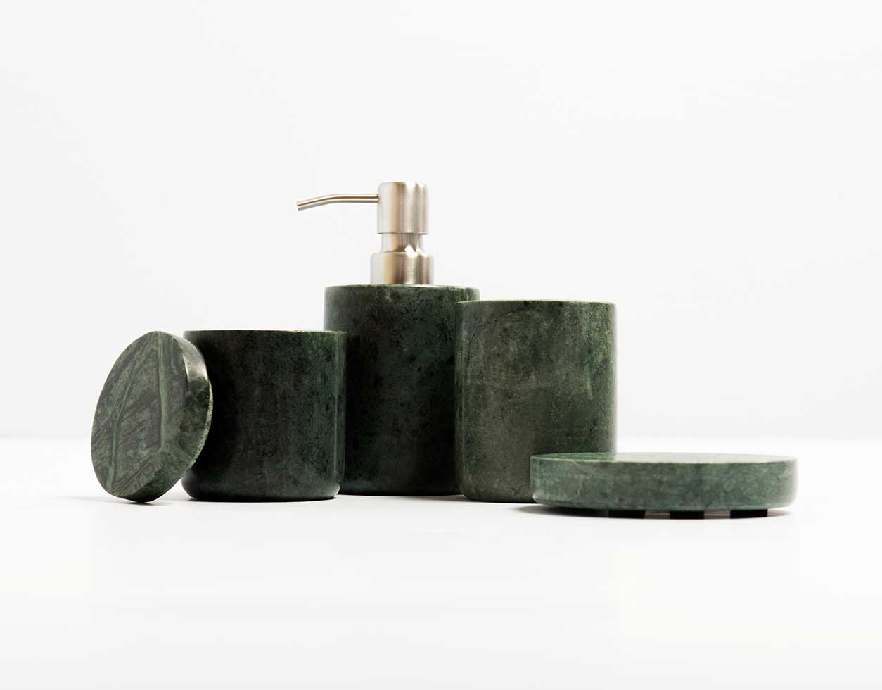 Marble Bathroom Accessories Green Lucky Fitsch