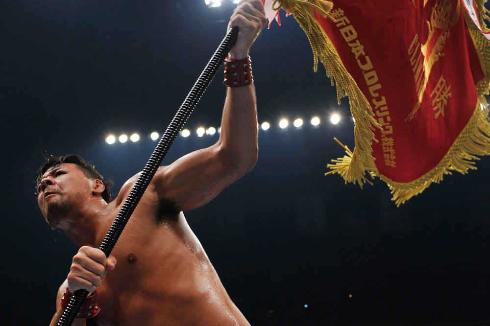 "First victory at the G1 Climax on August 14, 2011, after crushing Tetsuya Naito. ""For me, this was even further away than the IWGP,"" Nakamura remarked, reflecting on his happiness at achieving this long-sought goal. © 2014 SHINSUKE NAKAMURA / NEW JAPAN PRO WRESTLING / EAST PRESS."