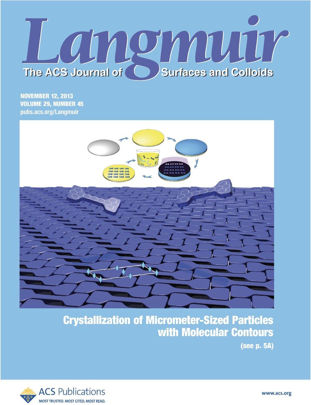 Song, et al.  Langmuir ,  2013 ,  29 , 13686–13693