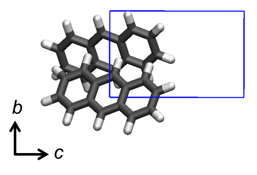 Crystal Structure of Anthracene (P21/a) Illustrating the Photo-Inactive Herringbone Packing