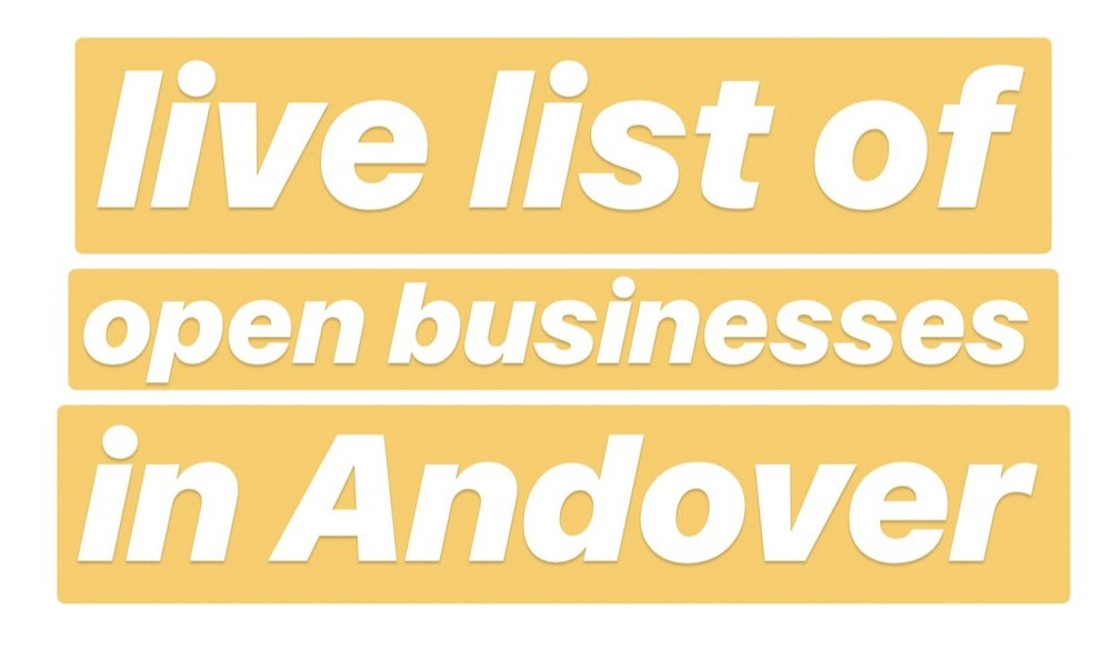 Big news - Andover now has a live list of the open businesses in town:  https://andoverma.gov/754/5345/Businesses-Open-During-Gas-Disaster