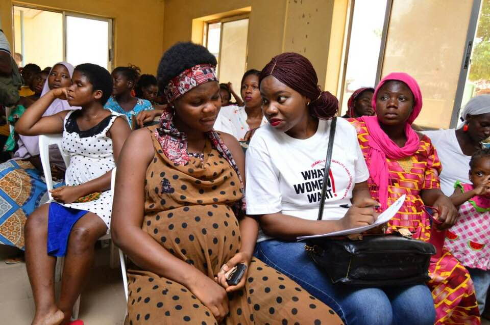 "Volunteers are essential to helping the ""What Women Want"" campaign reach 1 million women and girls. Photo courtesy: White Ribbon Alliance Nigeria."