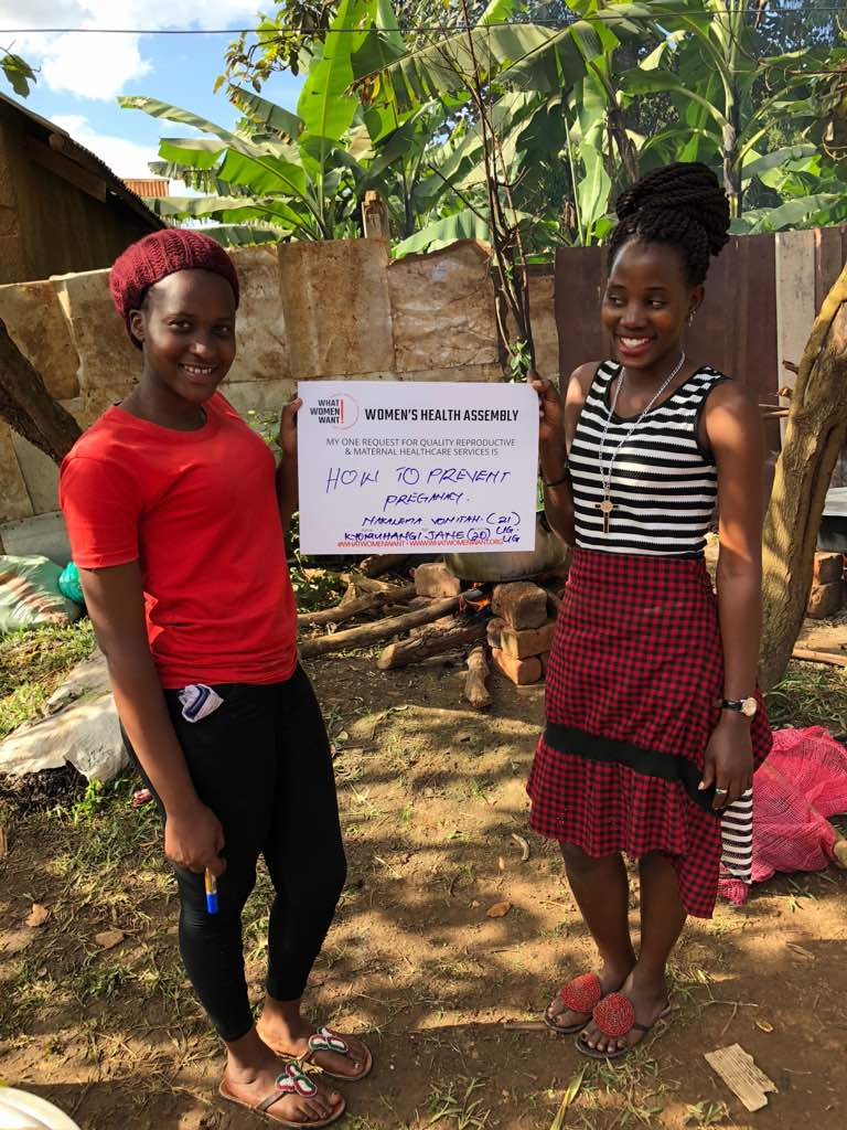 Vonitah and Jane are seeing many of their friends get pregnant at an early age and would like information and services to prevent early pregnancy. They are also shy about asking for information on how to prevent pregnancy at the health centers because many health workers think they are still young to be thinking about preventing pregnancy. When we asked them if they would consider condoms, they shied away, clearly showing how uncomfortable it is for them to even speak about some of their reproductive health needs. Their top request for quality reproductive and maternal healthcare services: How to prevent pregnancy.