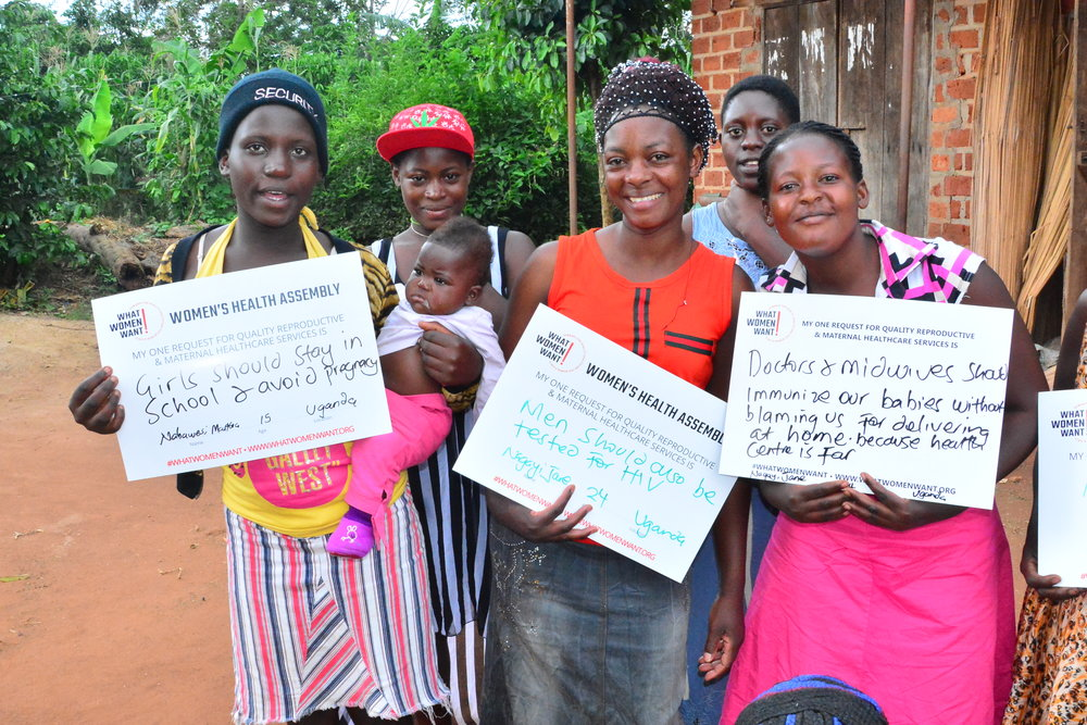 Martha Nabaweesi (left) dropped out of school. She got pregnant at 14 and her parents told her to go stay with her boyfriend. But her boyfriend also chased her and she went back home. She delivered her baby at home because she couldn't afford to go to a health center. When she called the boyfriend to tell him she had delivered, he switched off his phone after hearing the news and she has never heard from him again. She now lives with her grandmother. She advises girls her age to stay in school and avoid pregnancy and thinks if she had stayed in school, she would probably not have got pregnant. Martha's priority request for quality reproductive and maternal healthcare services: Girls should stay in school and avoid pregnancy.