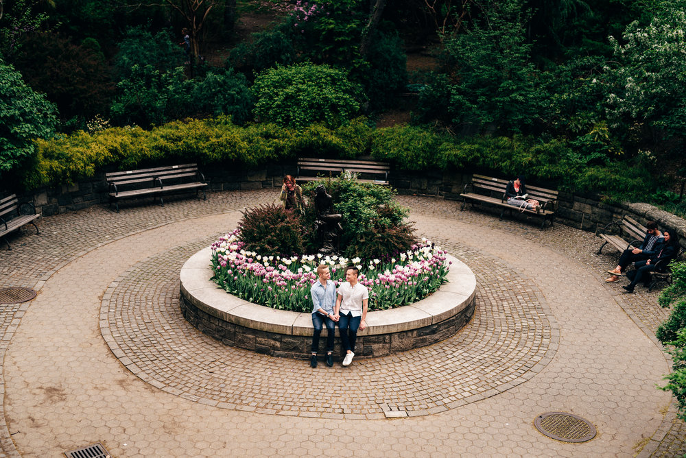 evan and lawrance enjoying a moment together at carl shurz park in the upper east side. I got to work with the two of them as I wanted to try out some new techniques with brenizer panoramas, as well as same sex engagement or couples photography
