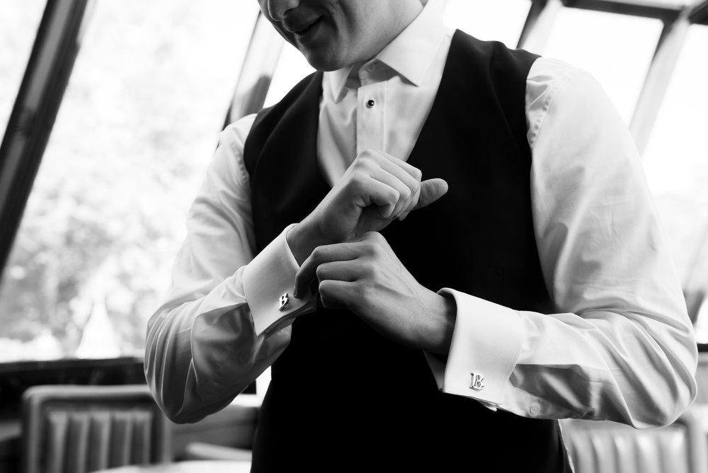 brent as he gets ready for his new jersey wedding at the manor