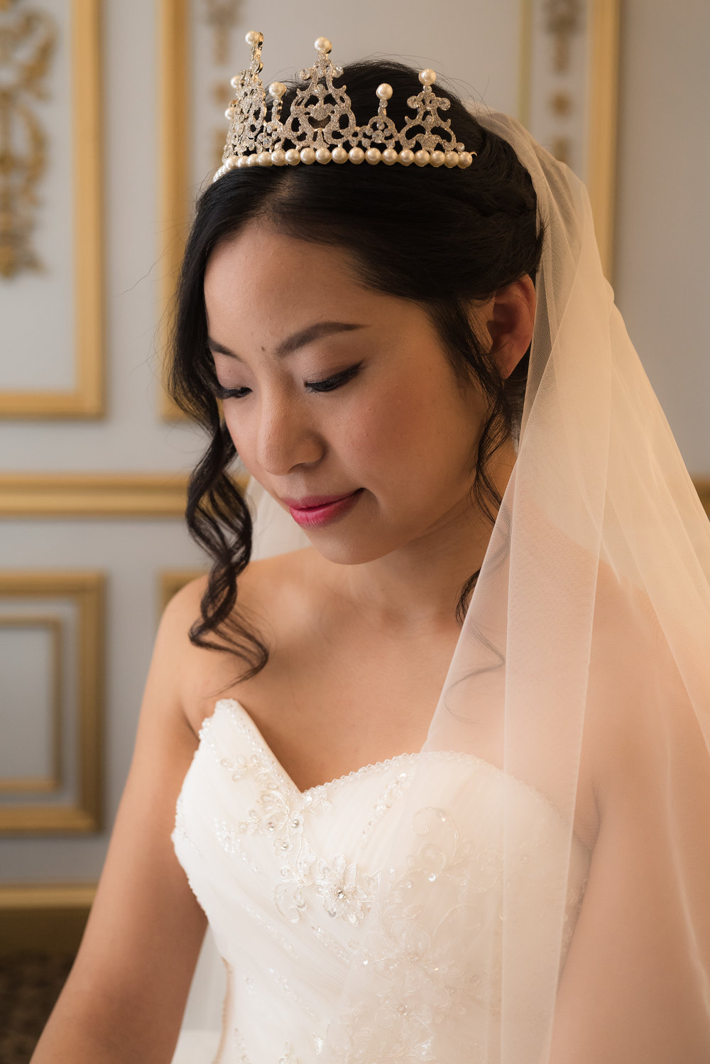 ping as she gets ready for her new jersey wedding at the manor