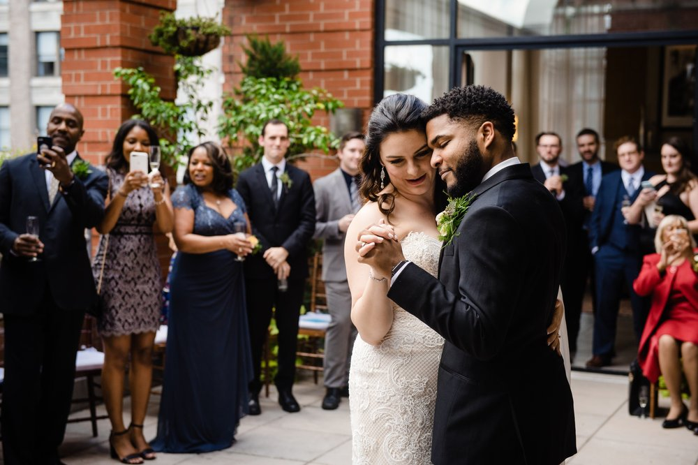 Caitlin and Bryon's wedding near Madison Square Park at the Giraffe Hotel in Midtown Manhattan. We approached this day as photjournalist wedding photographers first, aiming to create natural, authentic, but creative photos that tell an emotional and visual story of their day.