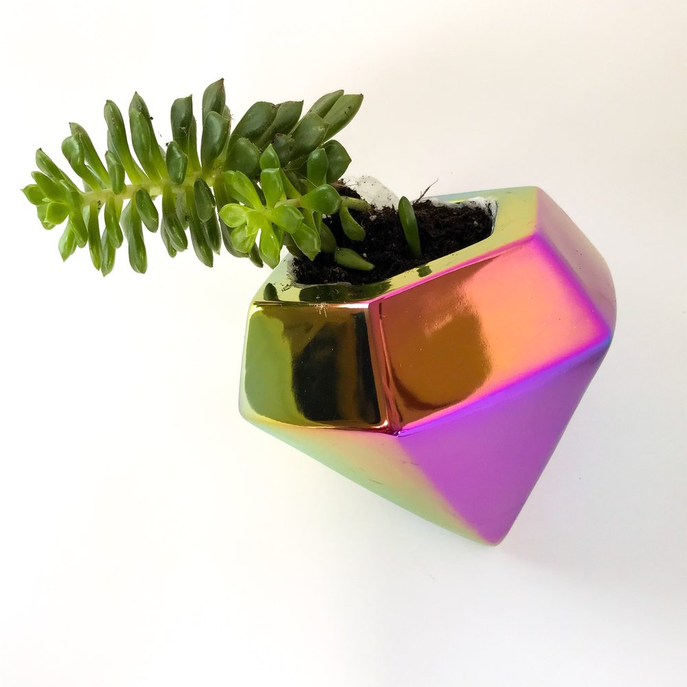 Succulent Space - Diamondwave Planter $12