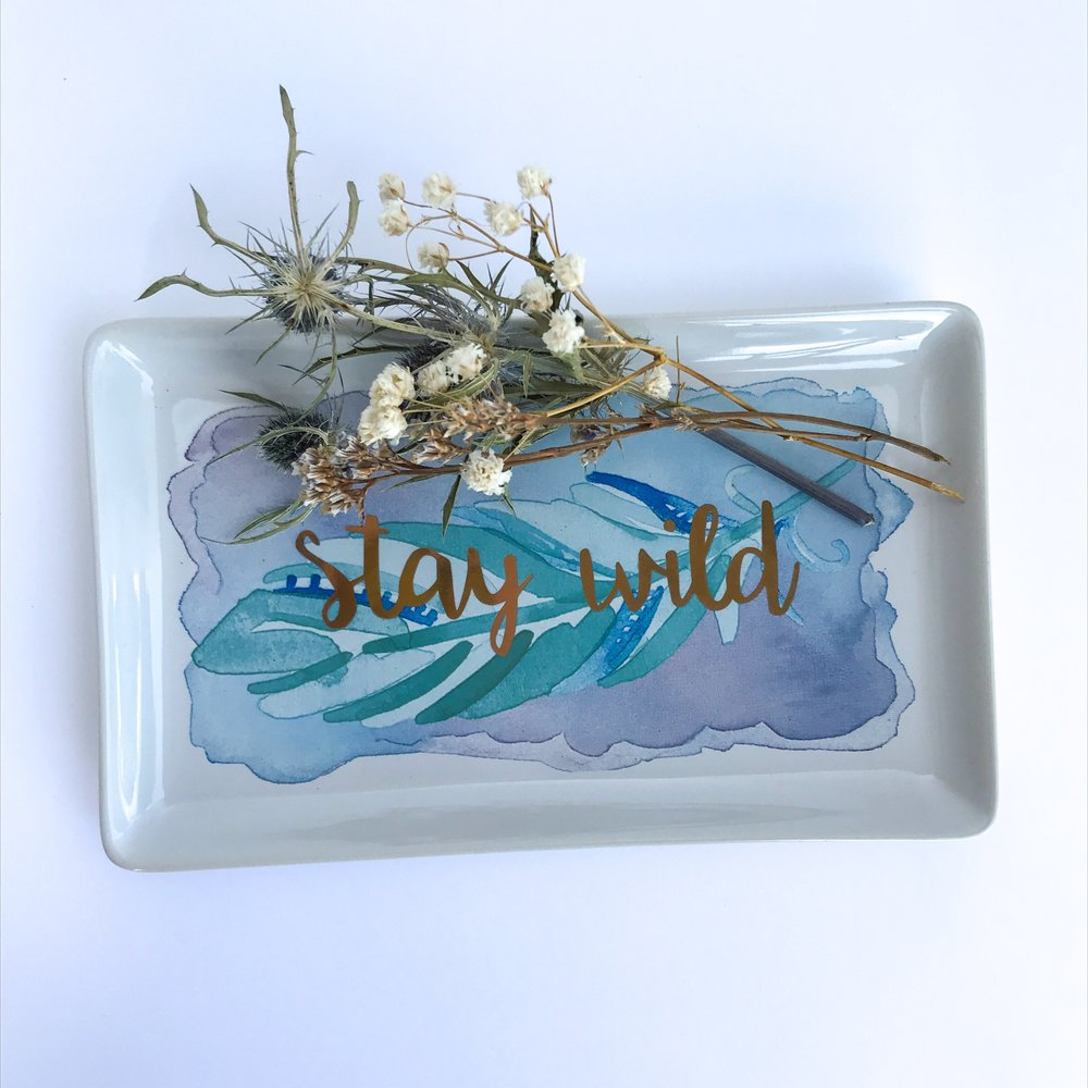 Everything In It's Place - Stay Wild Sundry Tray $8