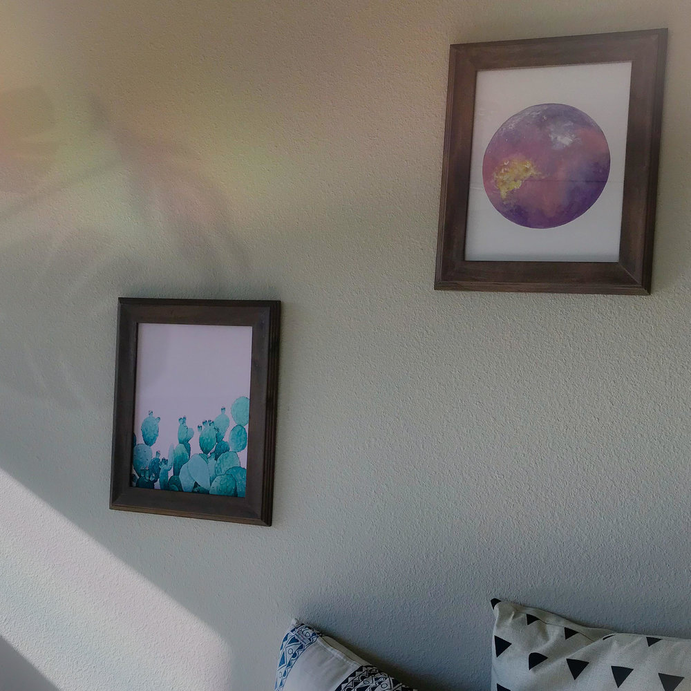 Tranquility by Katelyn Morse - Lavender Moon in Bloom Framed Print Set $160