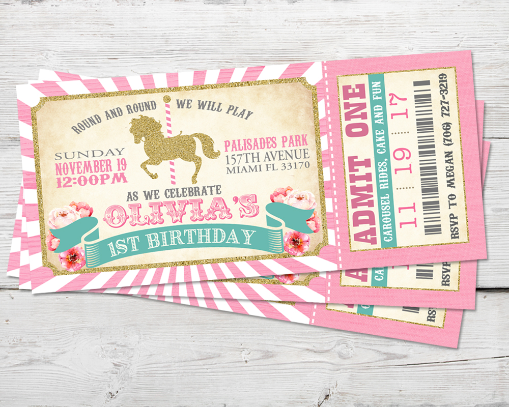 Carousel Birthday Party Ideas For A Merry Go Round Good Time For The Life Of The Party