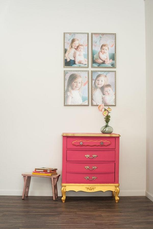 bright-pink-dresser-chalk-paint-gold-accenting.jpg