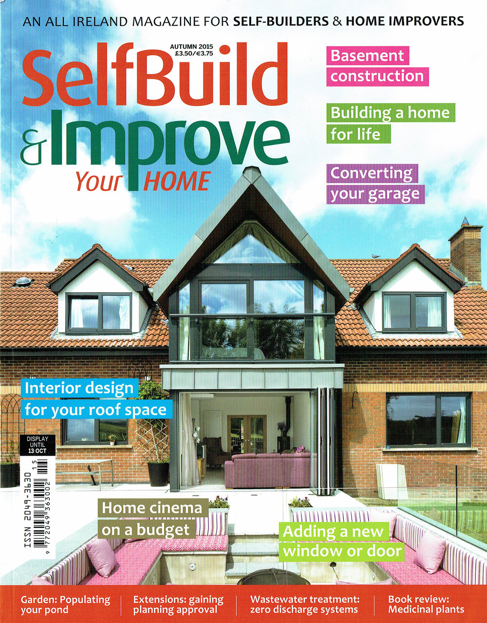 Wilson McMullen Architects House extension in Doagh features on Front Cover of Ireland's Premier self build magazine
