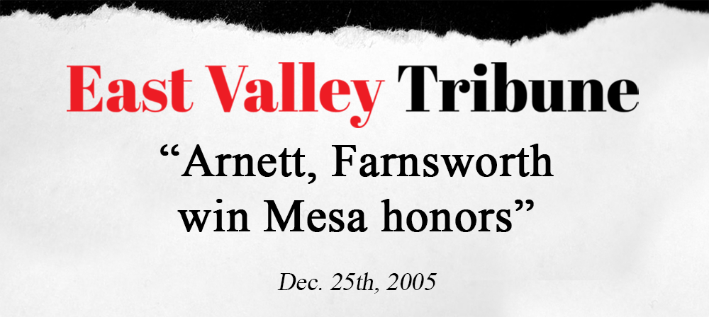 newspaper clipping arnett win honors east valley tribune.png