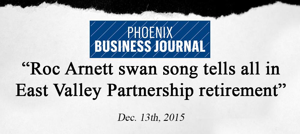 newspaper clipping roc arnett swan song phoenix biz journal.png