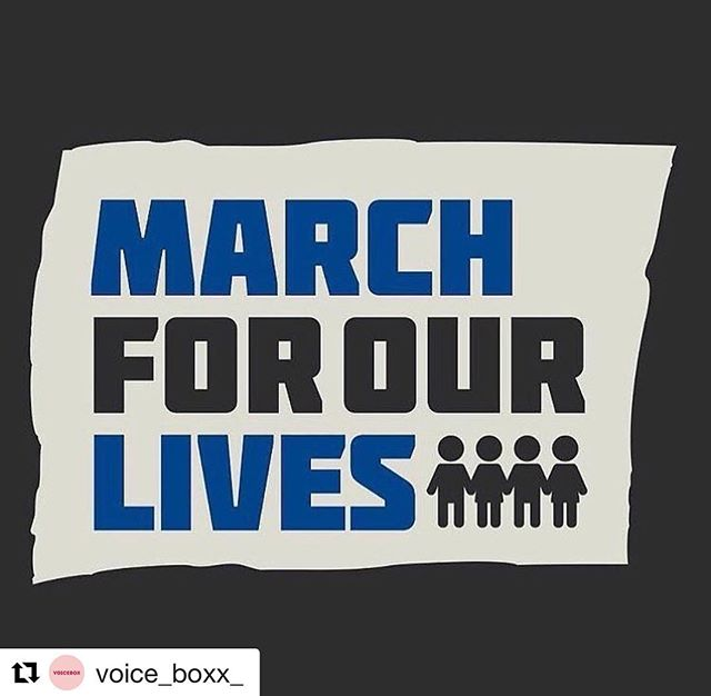"""My 6-year old nephew is marching today & I couldn't be more proud of him! #Repost @voice_boxx_ """"So we are speaking up for those who don't have anyone listening to them, for those who can't talk about it just yet, and for those who will never speak again. We are grieving, we are furious, and we are using our words fiercely and desperately because that's the only thing standing between us and this happening again."""" – Emma Gonzalez •••••••••••••••••••••••••••••••••••••••••••••••• It's not a moment, it's a movement. #voicebox #marchforourlives @col_mamasita"""