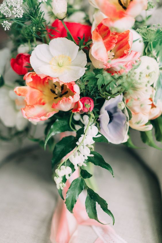 Bouquet by  Watershed Floral.  Image by  Emily Delamater .