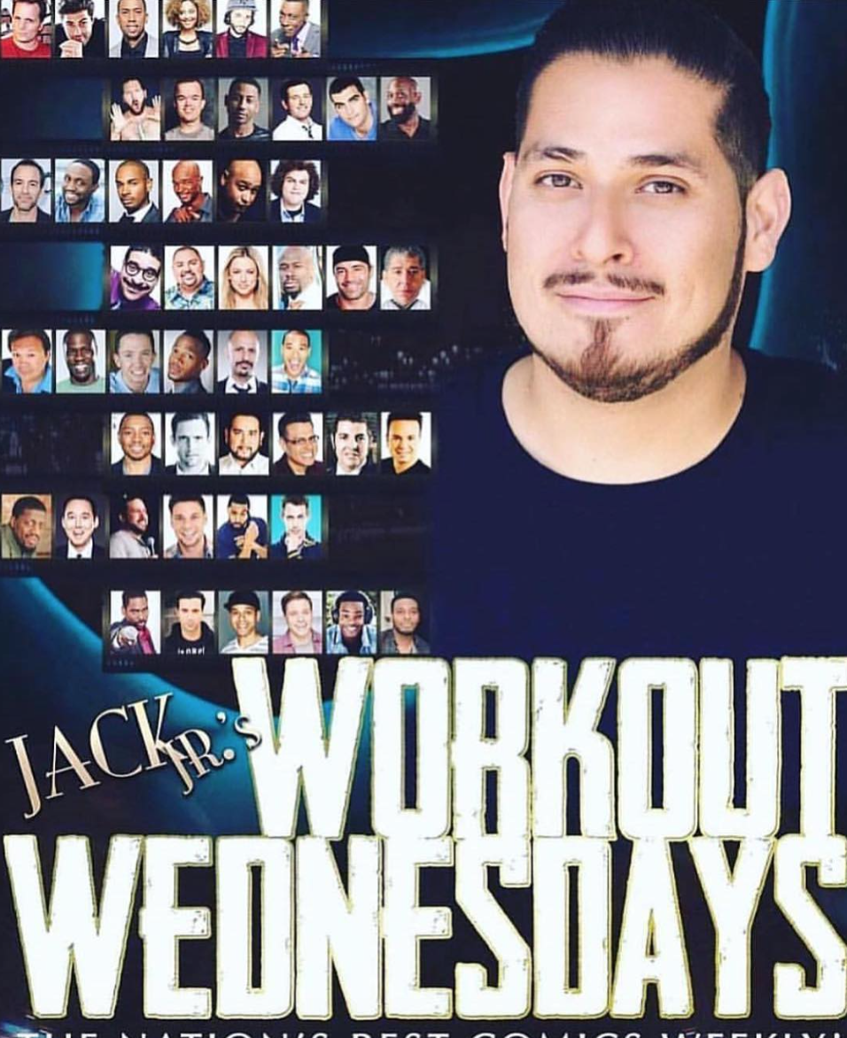 WED, MAY 16   The Workout Wednesday      HaHa Cafe Main Stage   4712 Lankershim Blvd     9:30pm    National Headliners come and give the audience a fresh look at their newer material.     Hosted by:  Jack Jr.     Featured Comics:    David Koechner,   Angel Isaac, Brandon T. Jackson, Chris Lamadieu, Chris Spencer, George Burns, Jacob Williams, Jeff Dye, Jeff Scheen, Jimmy O. Yang, Kareem Matthews, King Bach, Manny Maldonado & Rell Battle      Special Appearance & Book Signing by Dave Dahl