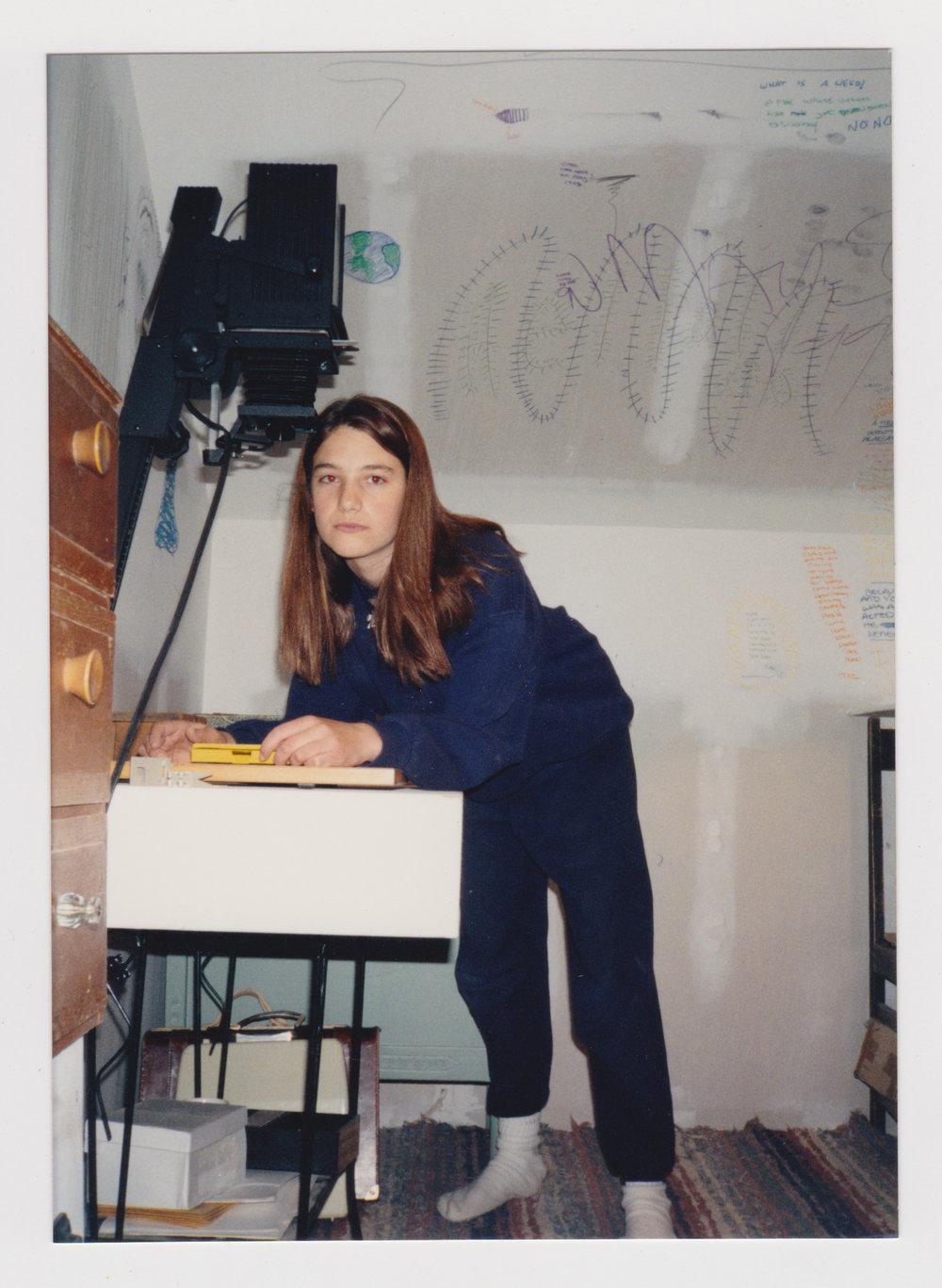 First darkroom, circa 1993, Santa Fe, NM