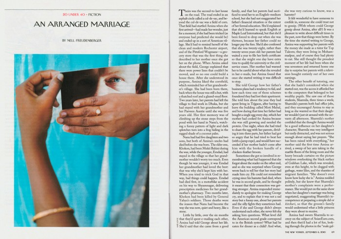 "Photograph for  The New Yorker  , ""An Arranged Marriage"" by Nell Freudenberger, September 6, 2010: 68"