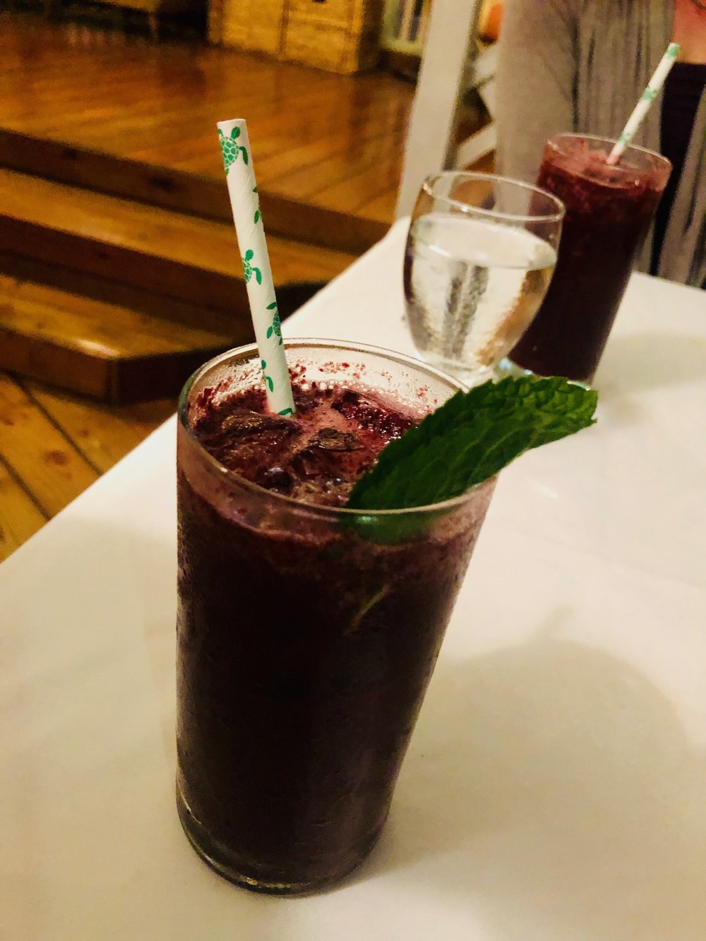 First Course Drink Pairing: Blackberry-Vanilla Mojito