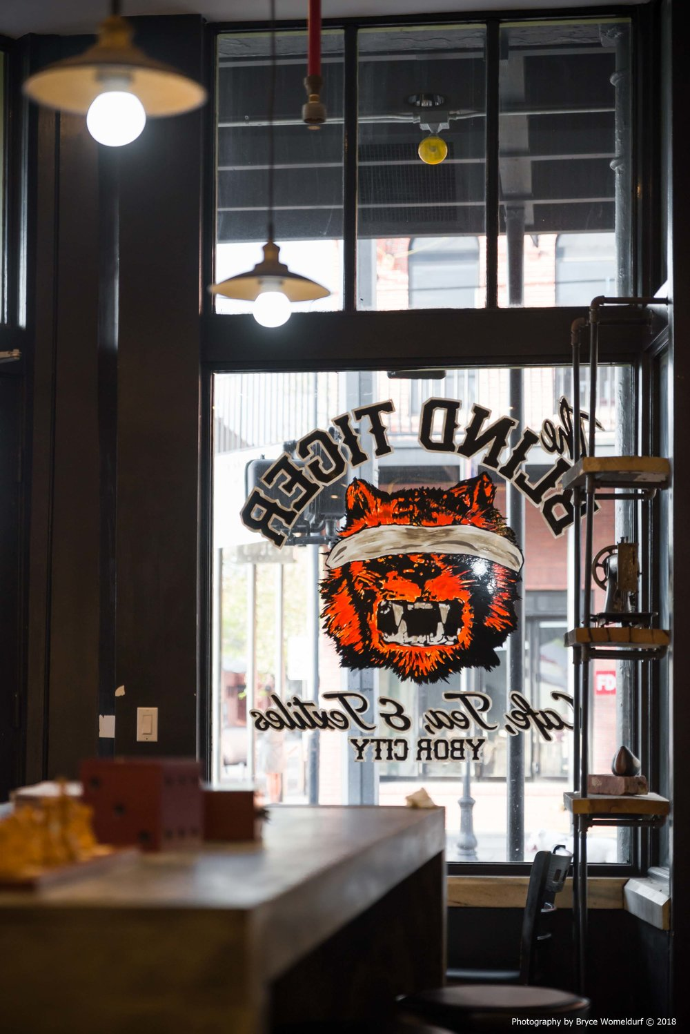 Blind Tiger coffee shop window | Ybor City, Florida