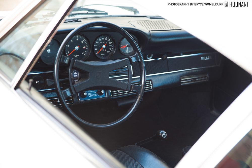 Porsche 912 interior at Amelia Island