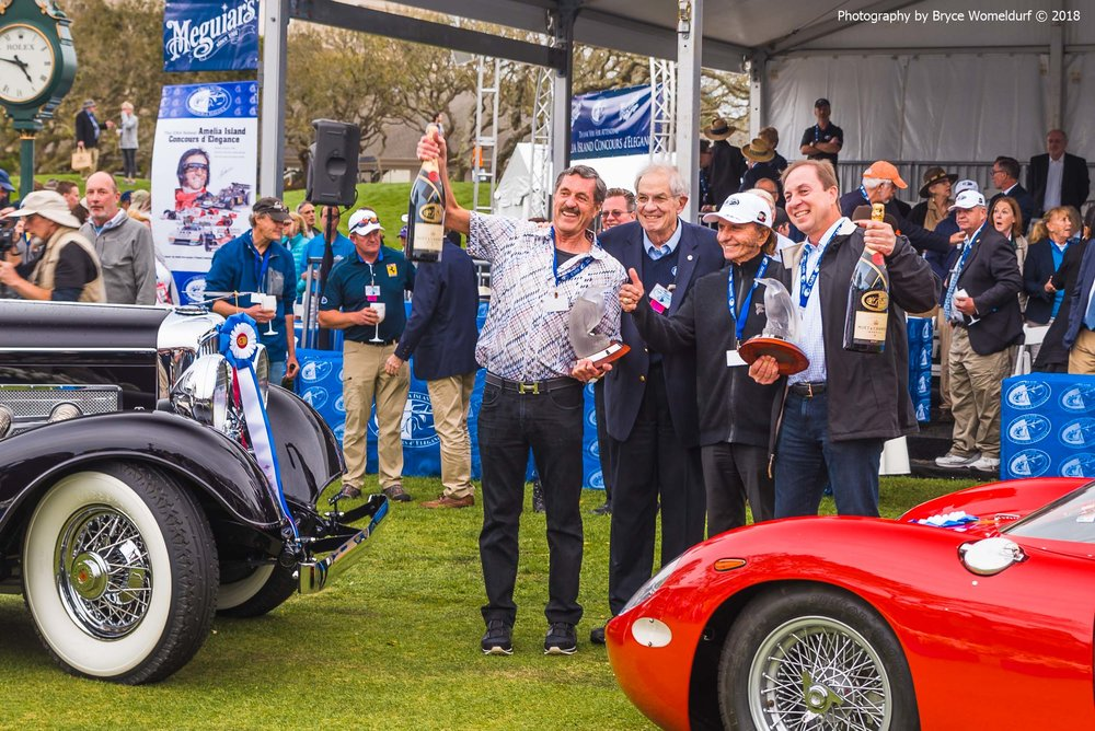 Winners of the 2018 Amelia Island Concours d'Elegance