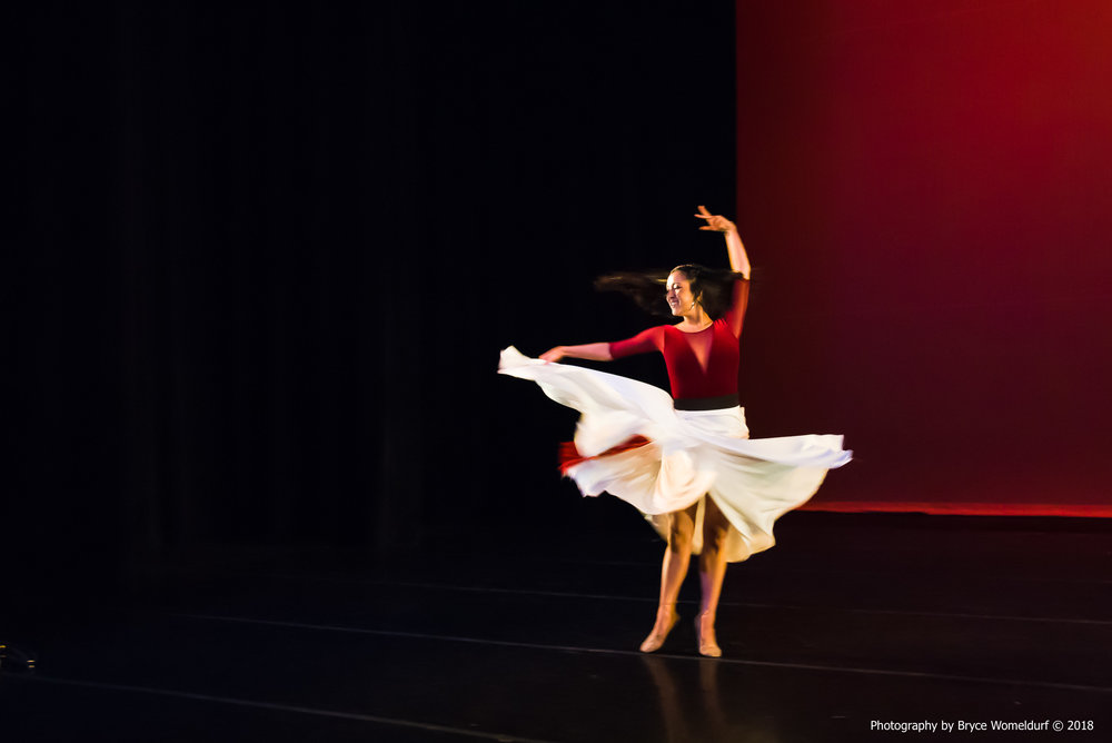 Student performance at 2018 Dance BFA showings
